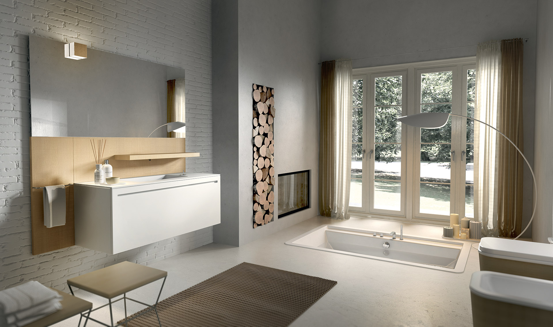 Colonne Salle De Bain Bambou Cdiscount ~ ker aura concept cuisine salle de bain spa