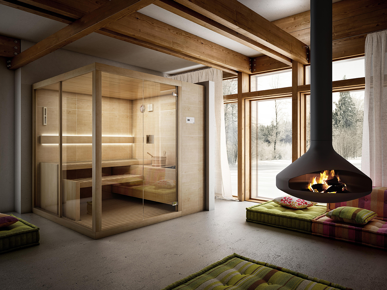 sauna aura concept cuisine salle de bain spa. Black Bedroom Furniture Sets. Home Design Ideas